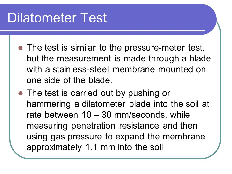 Dilatometer Test