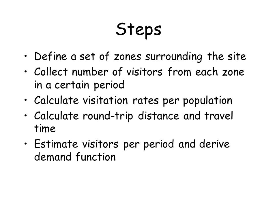 Steps Define a set of zones surrounding the site