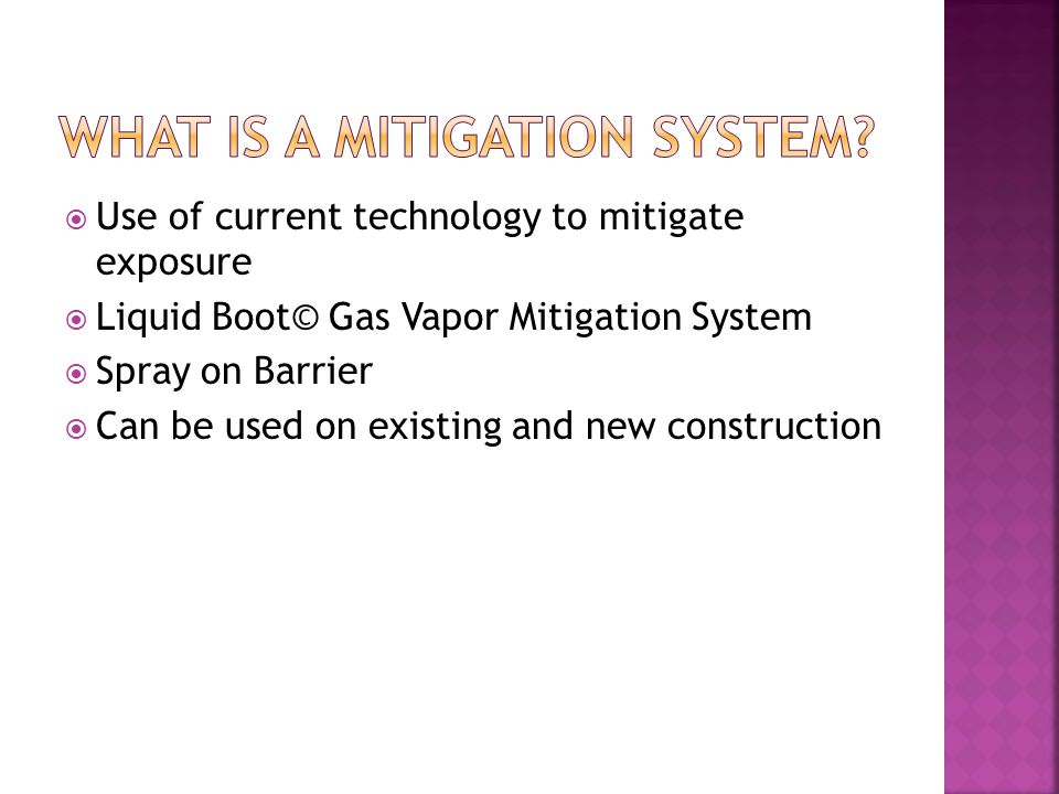 What is a mitigation system