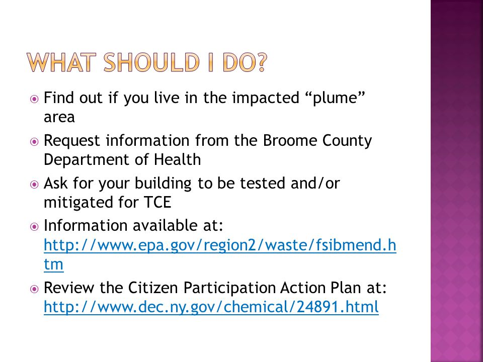 What should I do Find out if you live in the impacted plume area