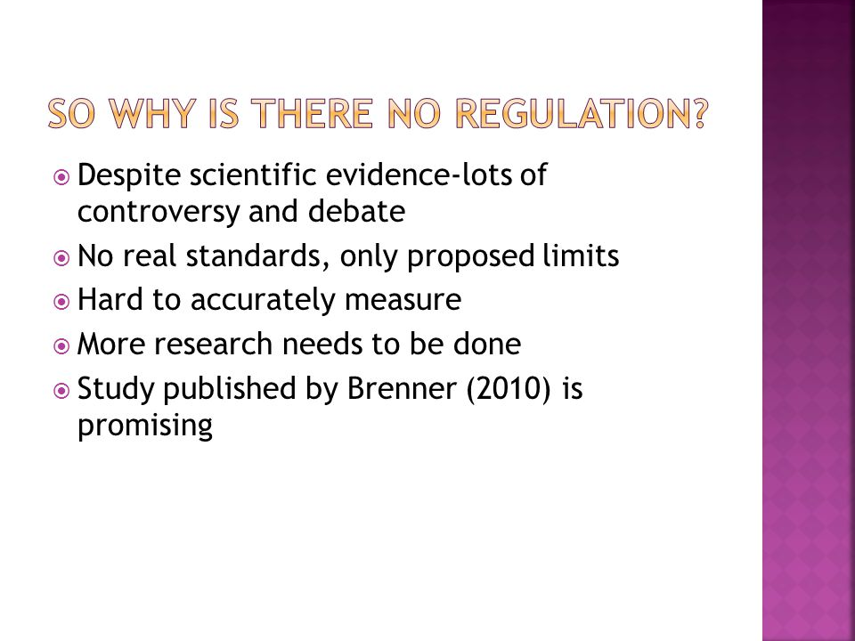 So why is there no regulation