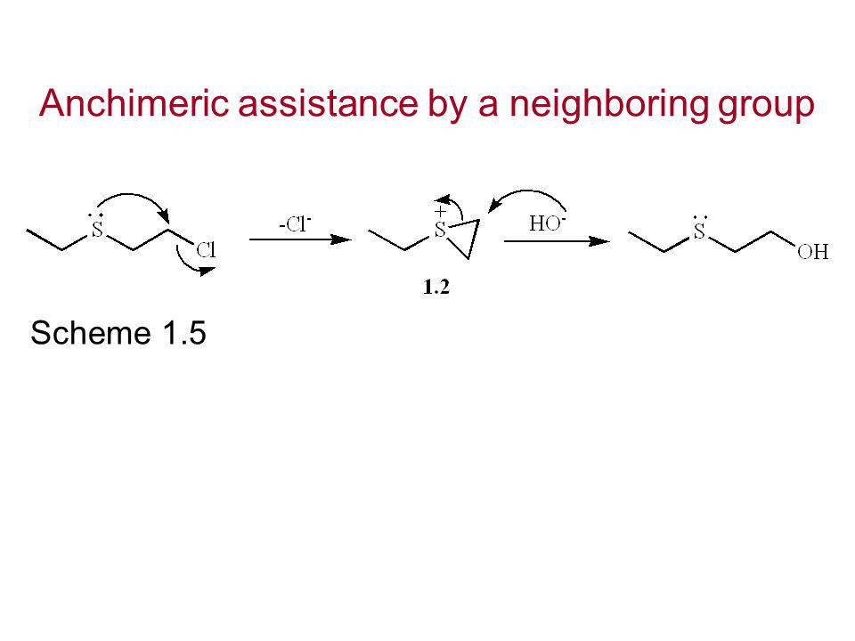 Anchimeric assistance by a neighboring group