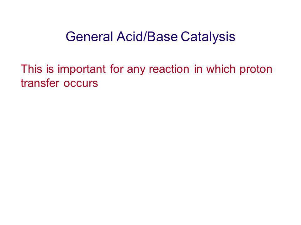 General Acid/Base Catalysis