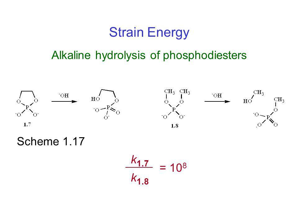 Alkaline hydrolysis of phosphodiesters