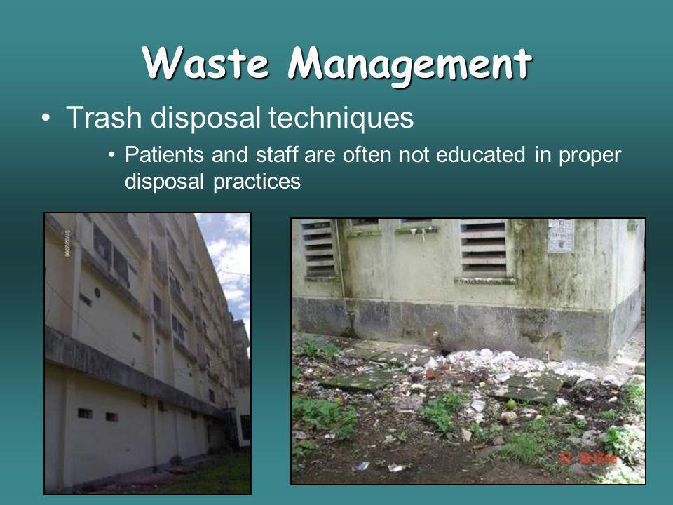 Waste Management Trash disposal techniques