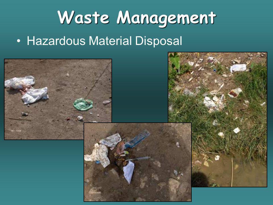Waste Management Hazardous Material Disposal