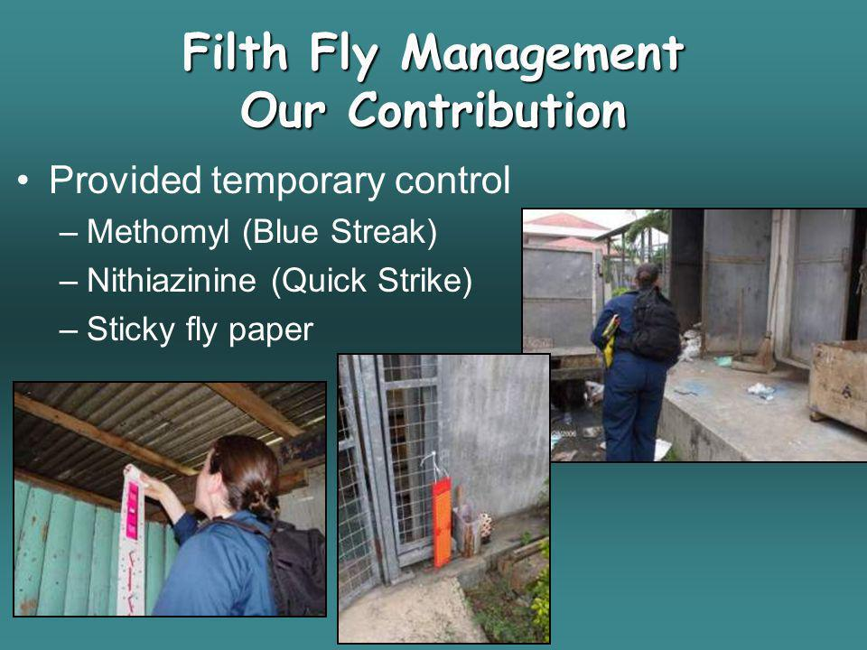 Filth Fly Management Our Contribution