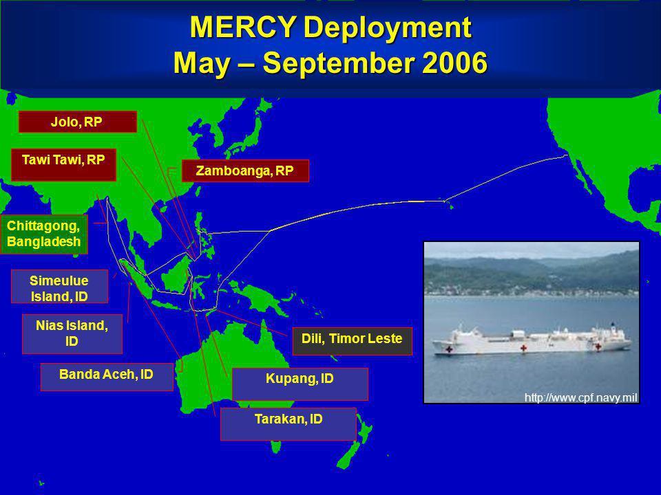 MERCY Deployment May – September 2006 Chittagong, Bangladesh