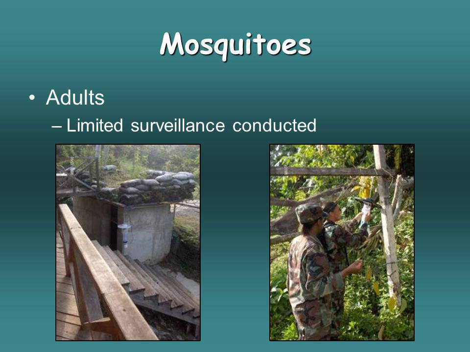 Mosquitoes Adults Limited surveillance conducted