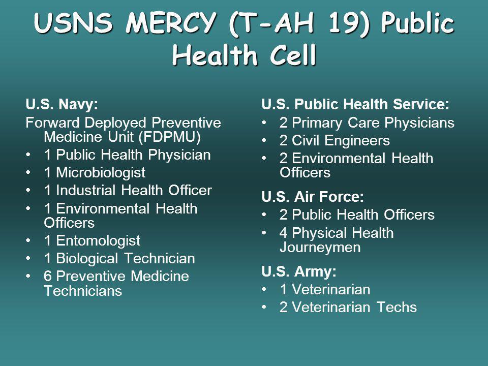 USNS MERCY (T-AH 19) Public Health Cell