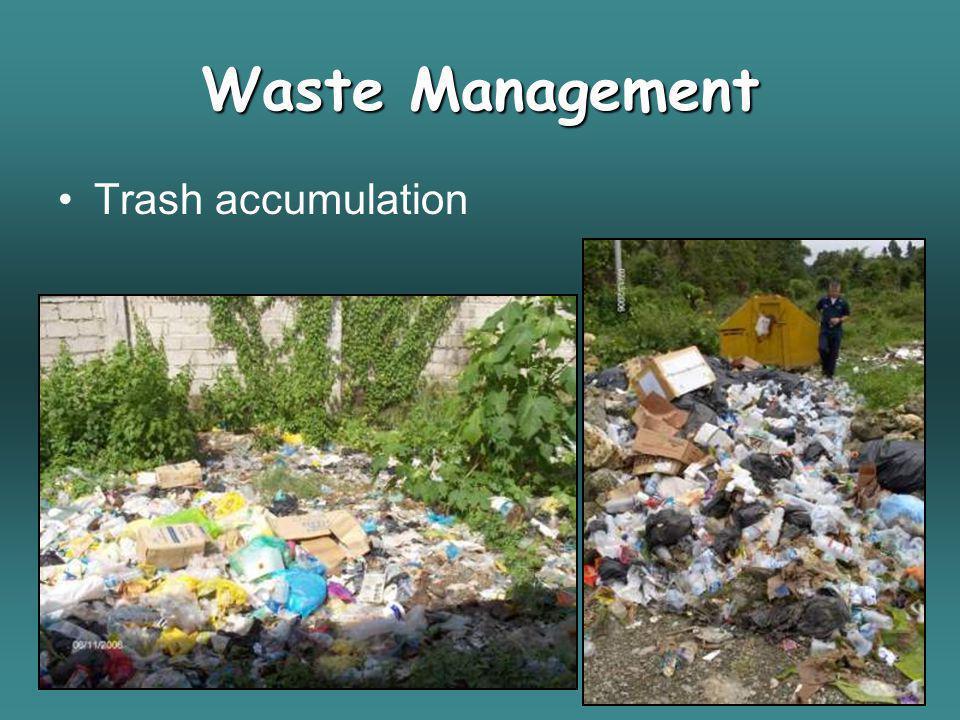 Waste Management Trash accumulation