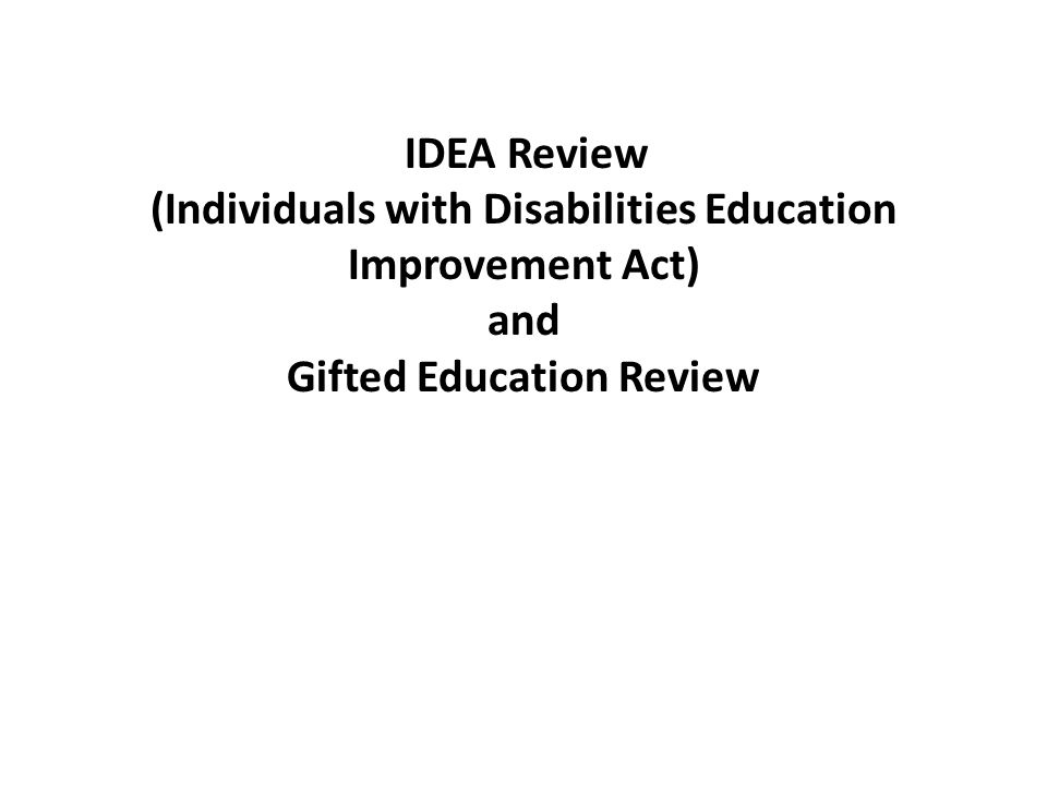 (Individuals with Disabilities Education Improvement Act) and