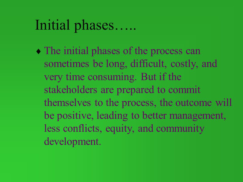 Initial phases…..