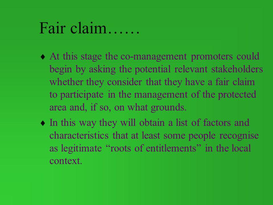 Fair claim……