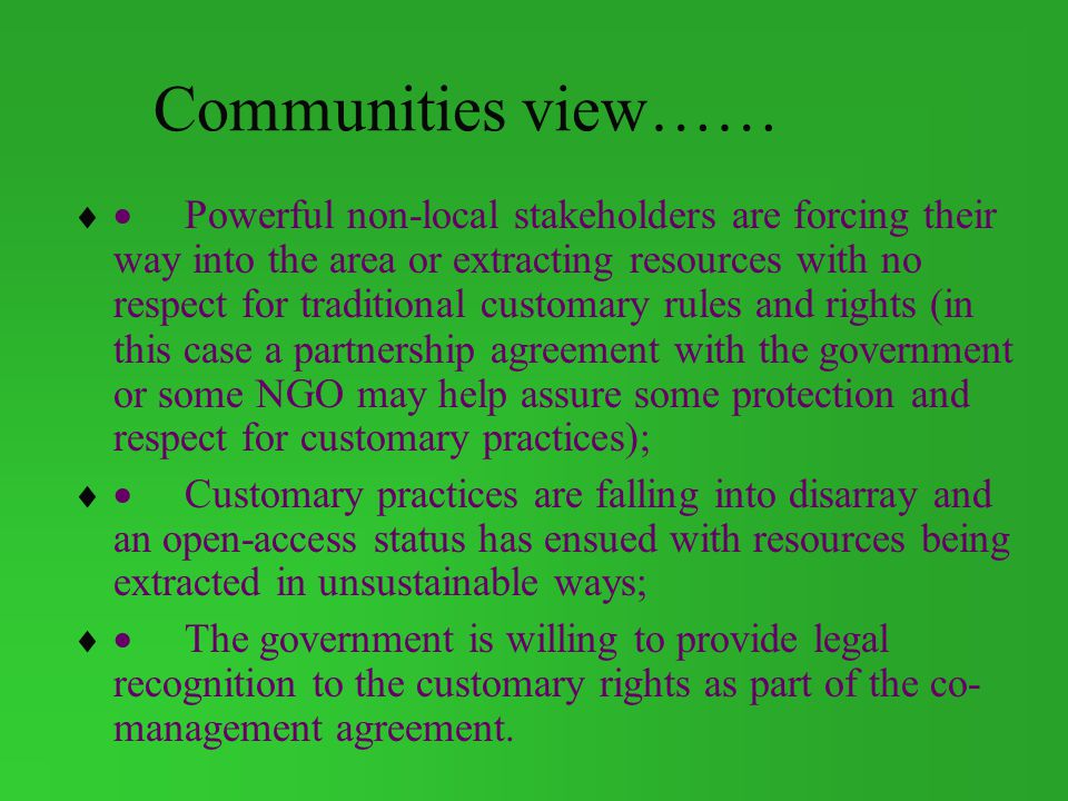 Communities view……