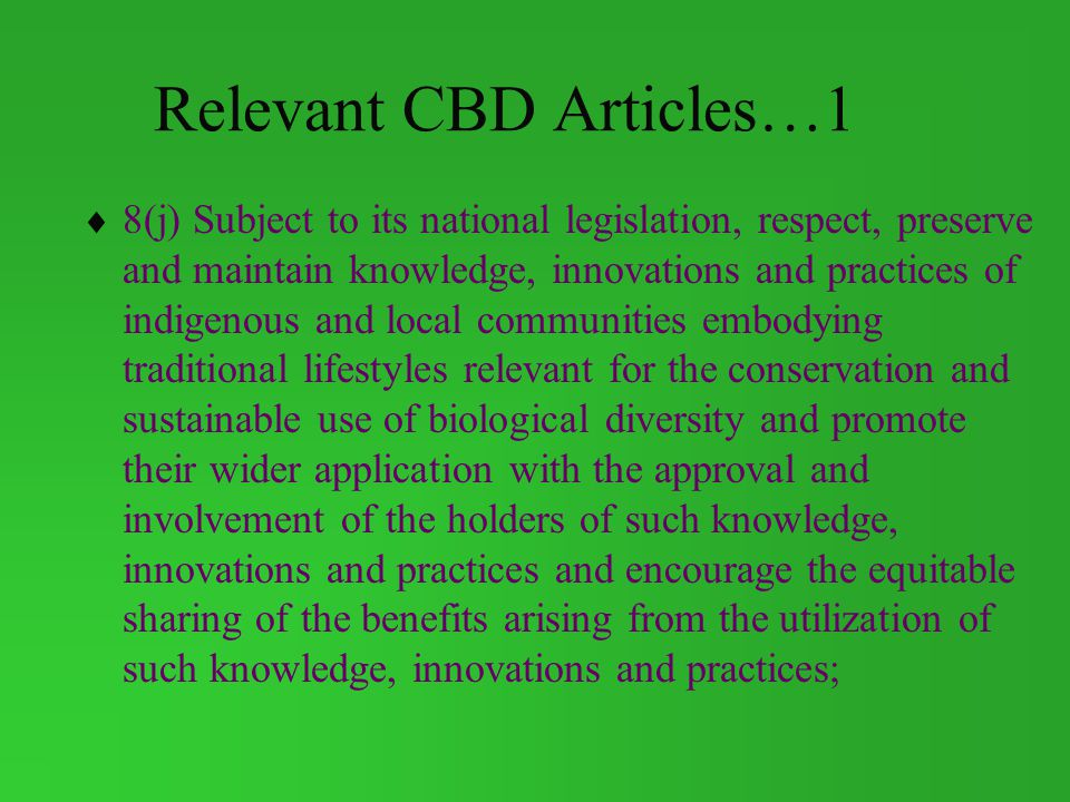Relevant CBD Articles…1