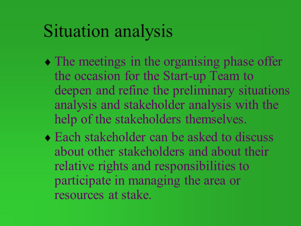 Situation analysis