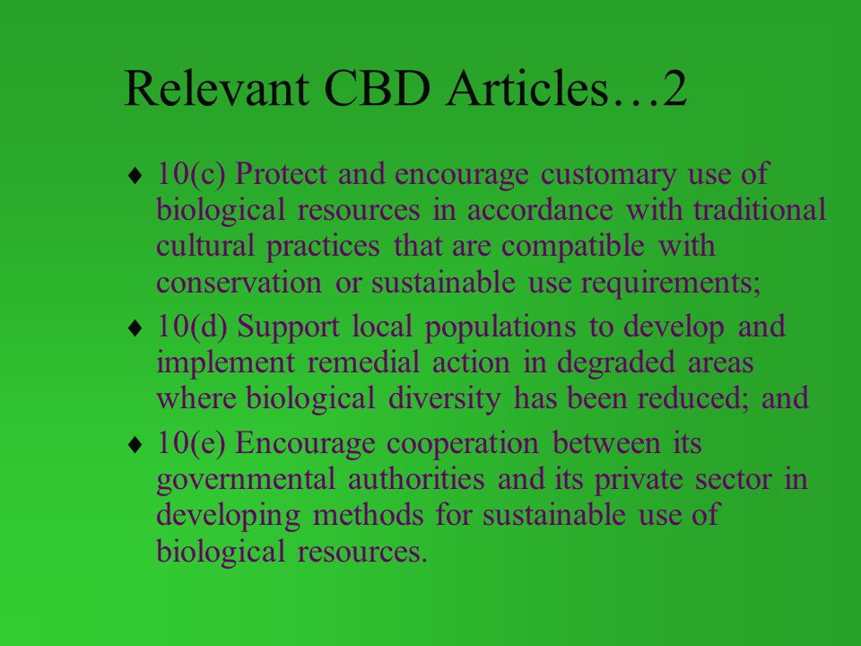 Relevant CBD Articles…2
