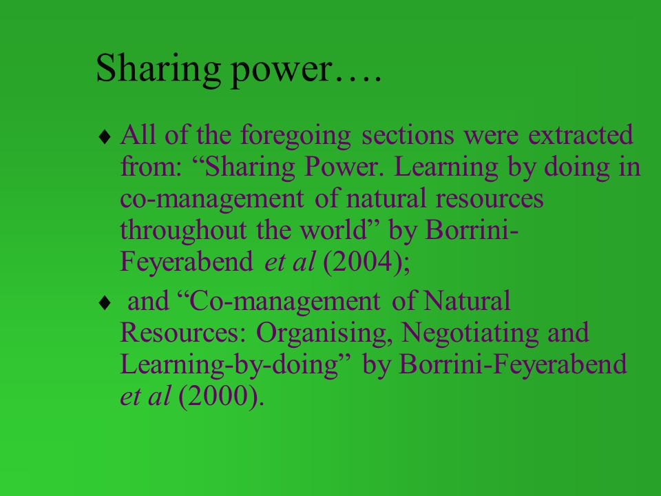 Sharing power….