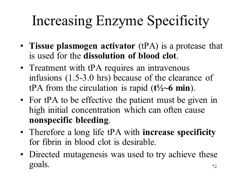 Increasing Enzyme Specificity
