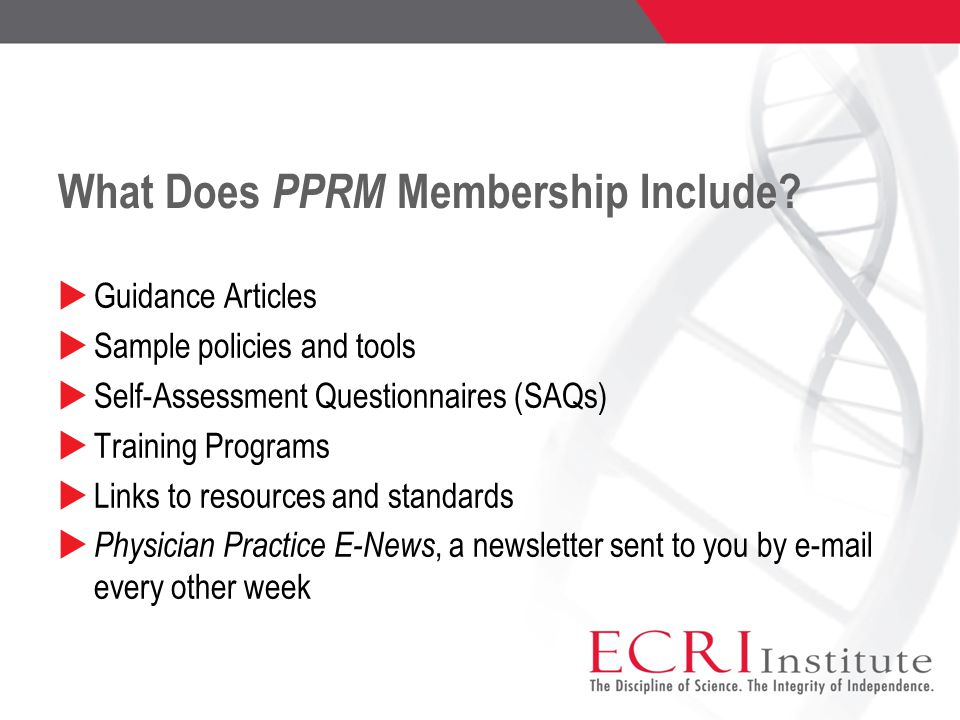 What Does PPRM Membership Include