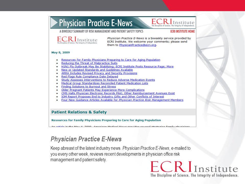 Physician Practice E-News