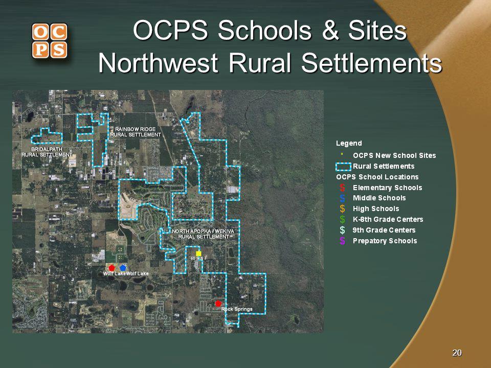 OCPS Schools & Sites Northwest Rural Settlements