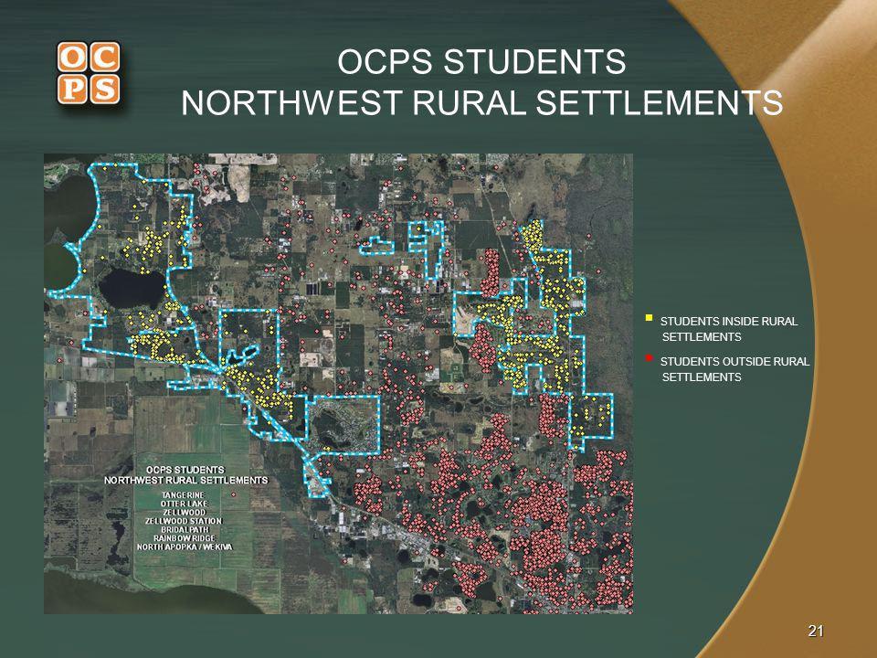 OCPS STUDENTS NORTHWEST RURAL SETTLEMENTS