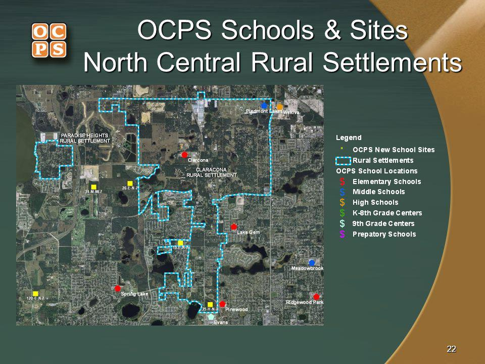 OCPS Schools & Sites North Central Rural Settlements