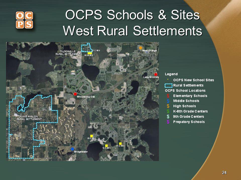 OCPS Schools & Sites West Rural Settlements
