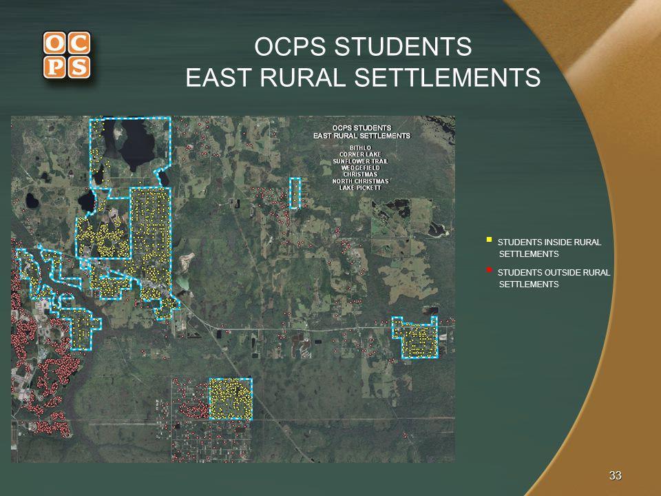 OCPS STUDENTS EAST RURAL SETTLEMENTS
