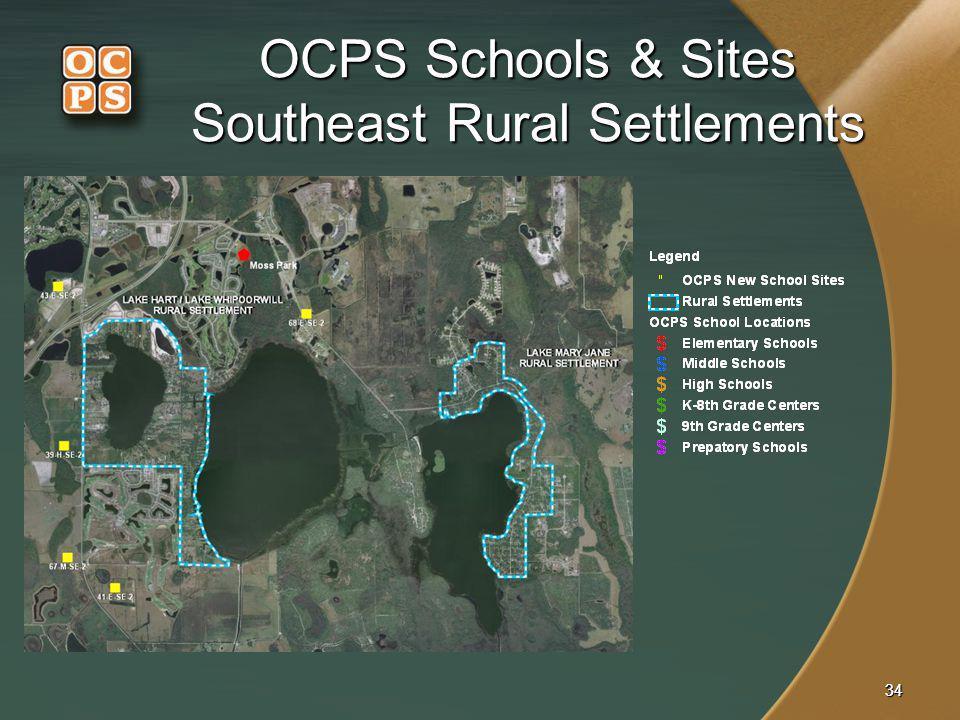 OCPS Schools & Sites Southeast Rural Settlements