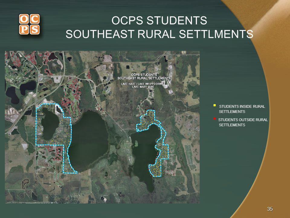 OCPS STUDENTS SOUTHEAST RURAL SETTLMENTS