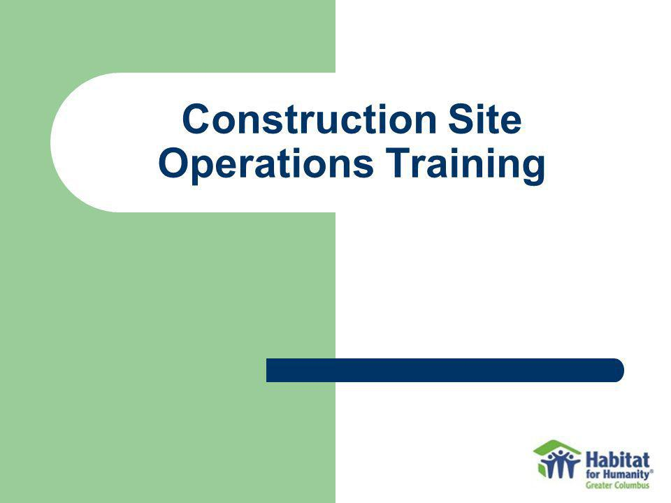 Construction Site Operations Training