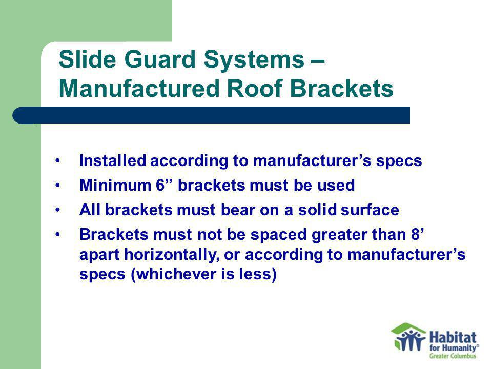 Manufactured Roof Brackets