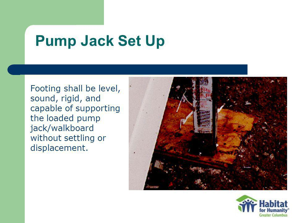 Pump Jack Set Up