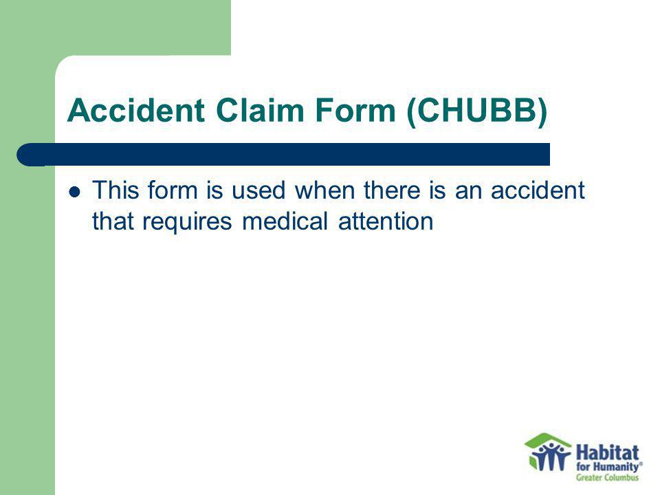 Accident Claim Form (CHUBB)