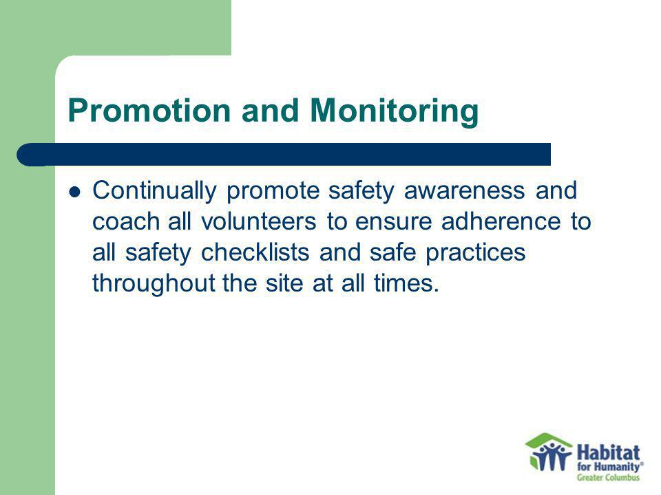 Promotion and Monitoring