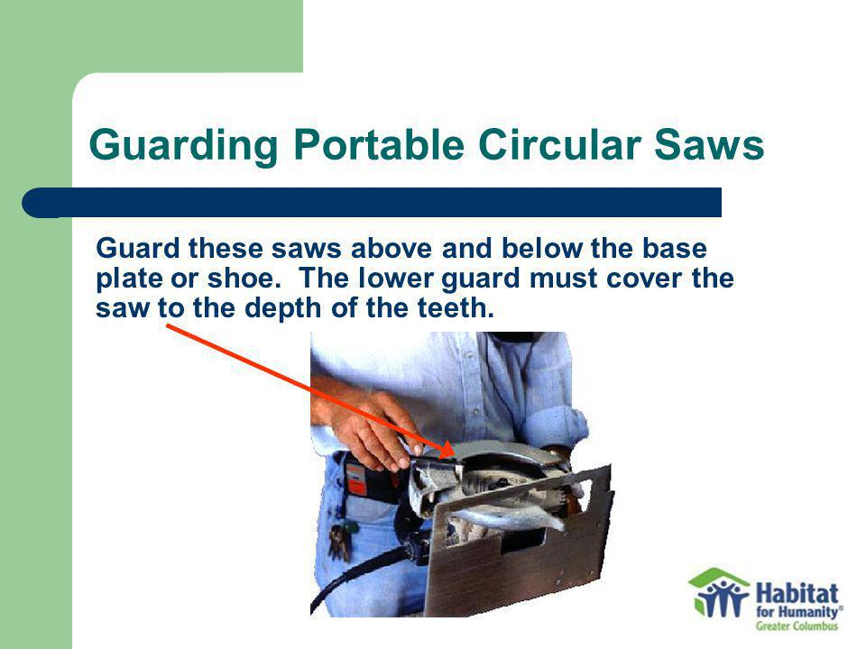 Guarding Portable Circular Saws