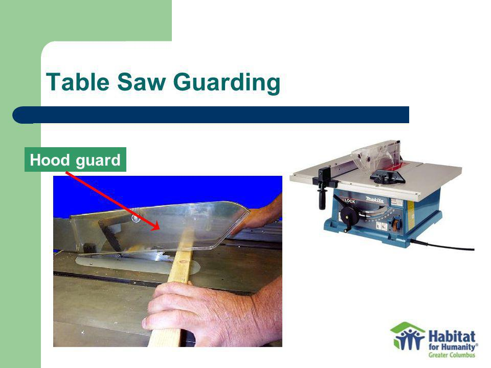 Table Saw Guarding Hood guard