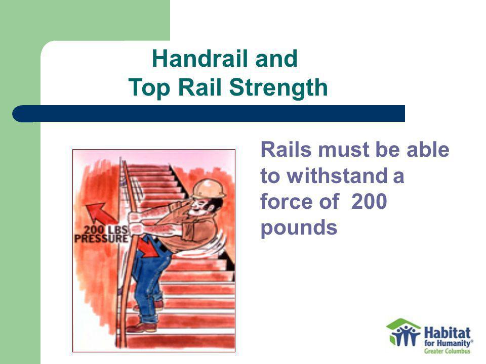 Handrail and Top Rail Strength