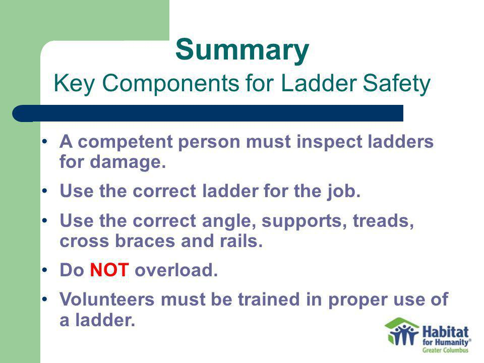 Key Components for Ladder Safety