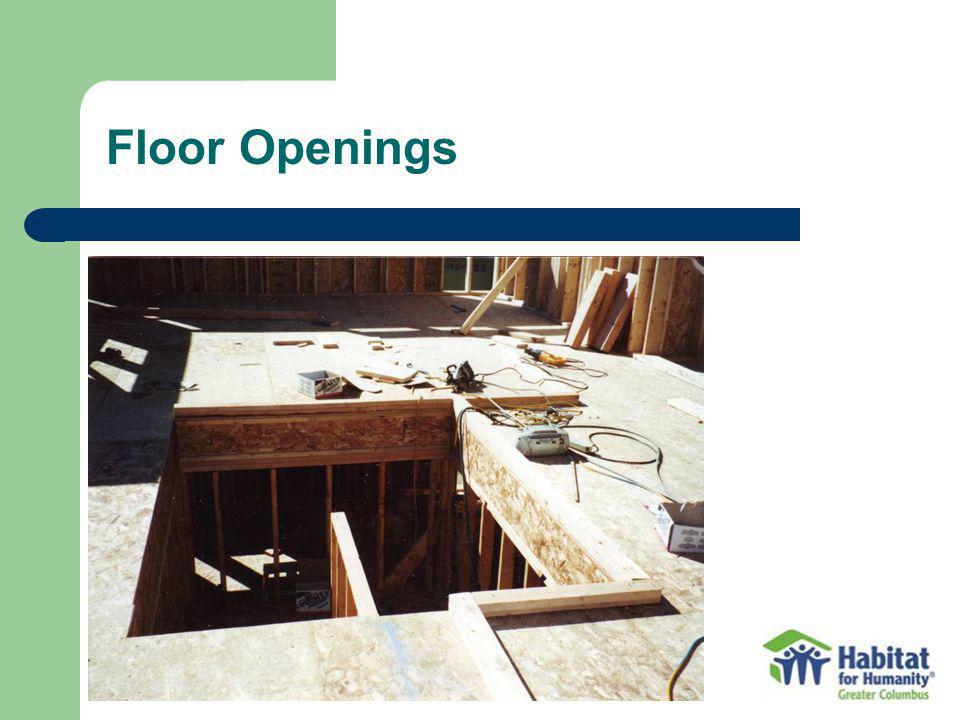 Floor Openings Typical of what shows up in residential construction.