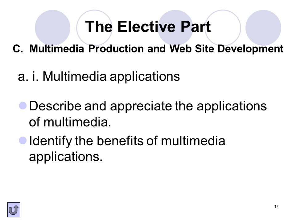 a. i. Multimedia applications