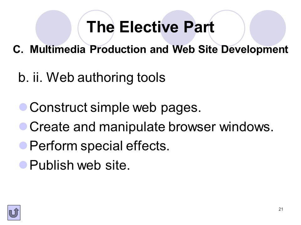 b. ii. Web authoring tools
