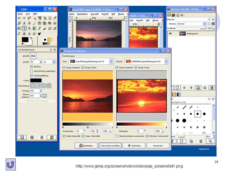http://www.gimp.org/screenshots/windowsxp_screenshot1.png
