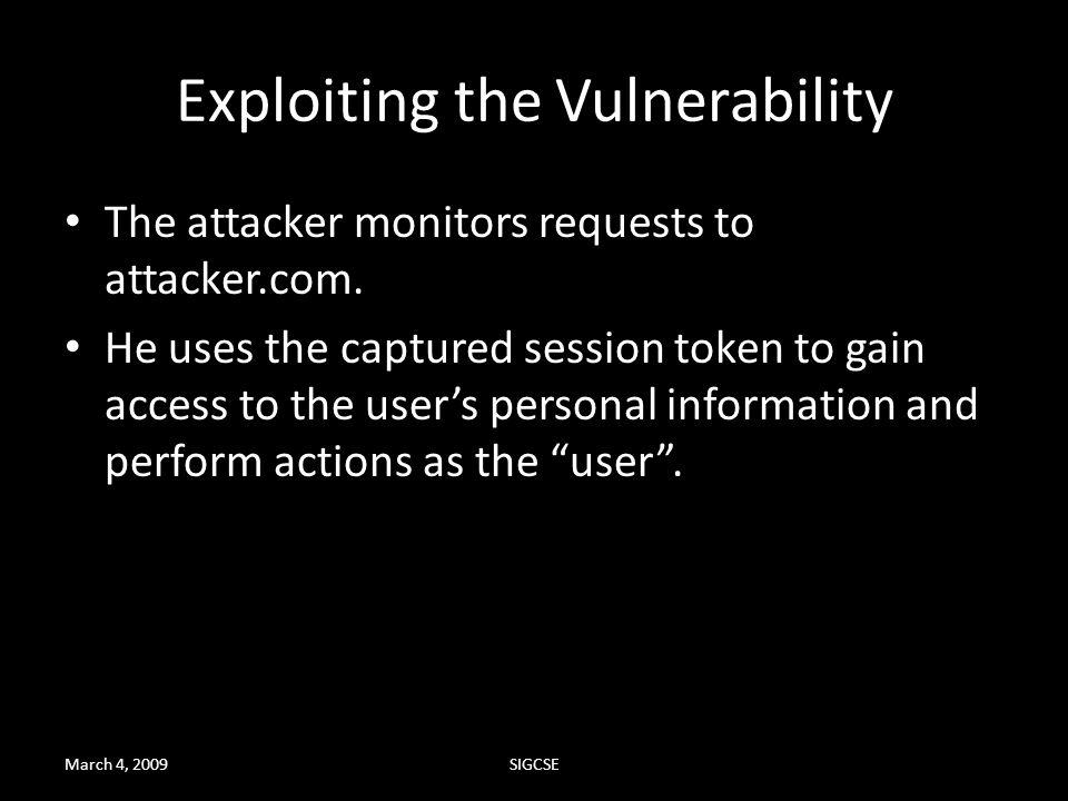 Exploiting the Vulnerability