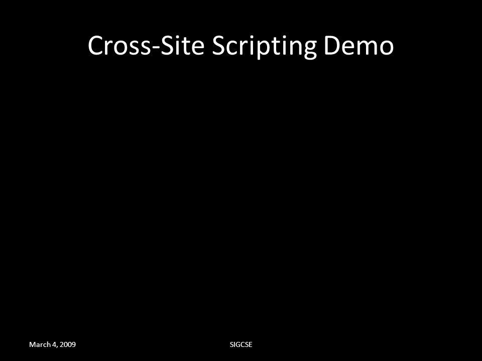 Cross-Site Scripting Demo