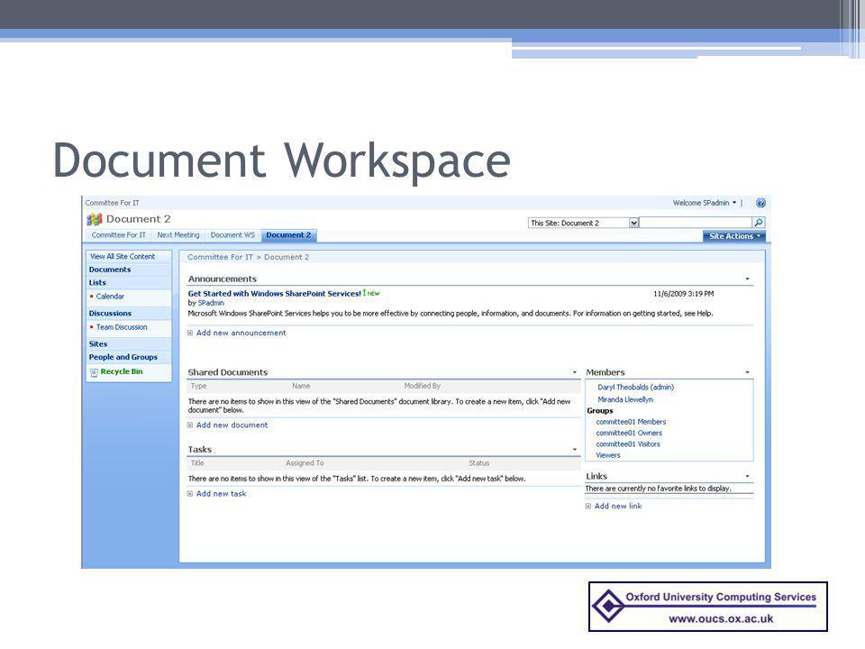 Document Workspace