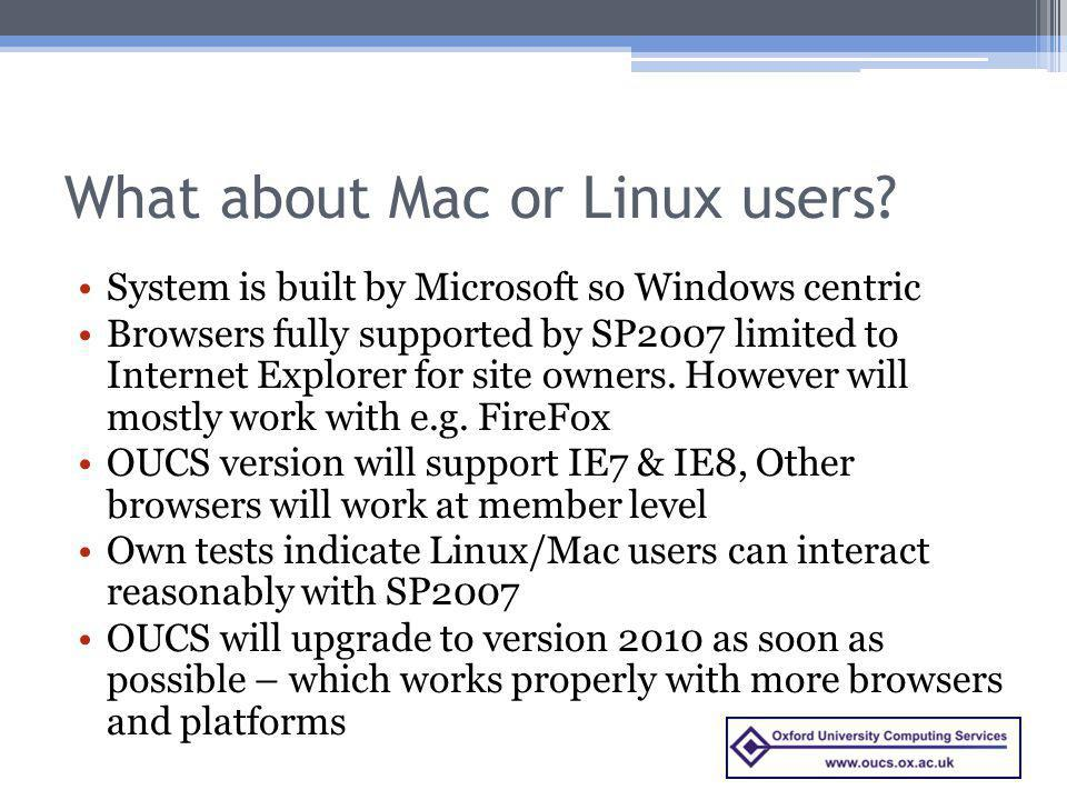 What about Mac or Linux users